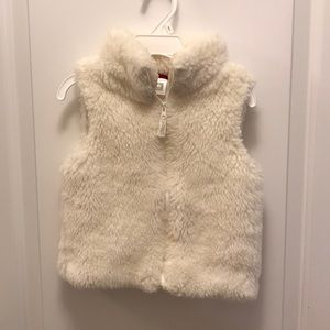 Carter's 4T Cream Faux Fur Vest
